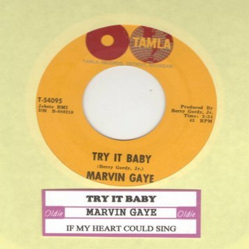 Gaye, Marvin - Try It Baby/If My Heart Could Sing - VG7/ - 45 rpm Records