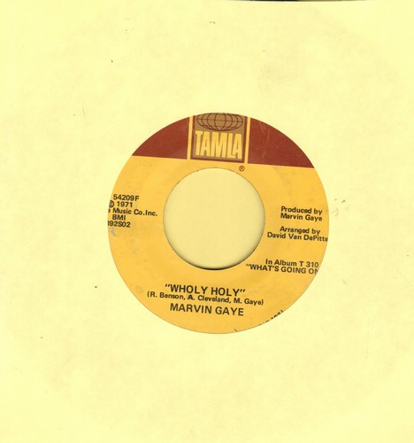 Gaye, Marvin - Wholy Holy/Inner City Blues (Make Me Wanna Holler) (wol) - VG7/ - 45 rpm Records