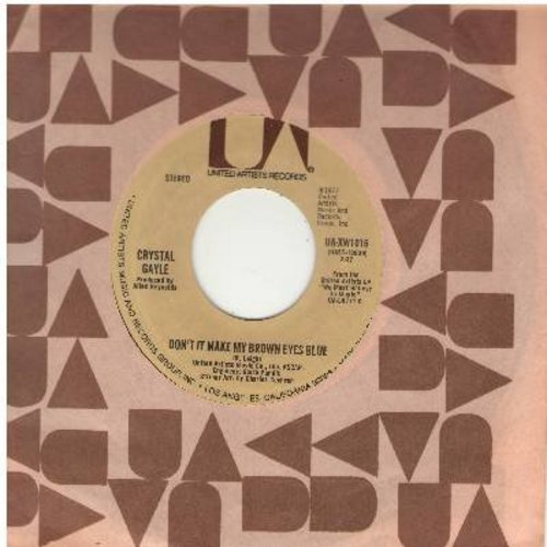 Gayle, Crystal - Don't It Make My Brown Eyes Blue/It's All Right With Me (with United Artists company sleeve) - NM9/ - 45 rpm Records