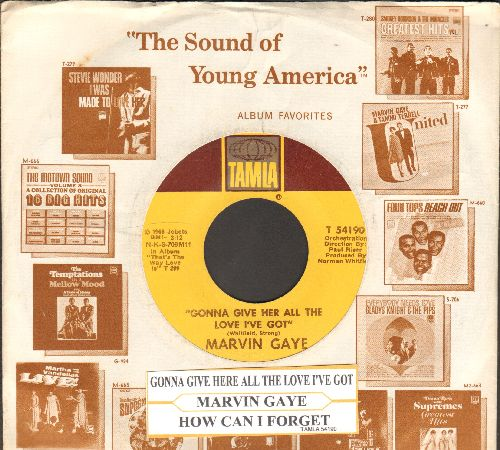 Gaye, Marvin - How Can I Forget/Gonna Give Her All The Love I've Got (with vintage Motown company sleeve and juke box label) - EX8/ - 45 rpm Records
