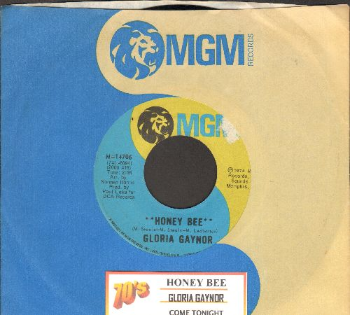 Gaynor, Gloria - Honey Bee/Come Tonigh (with MGM company sleeve and juke box label) - EX8/ - 45 rpm Records