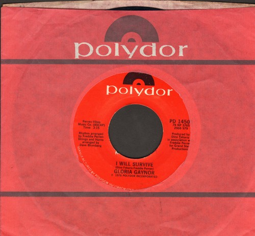 Gaynor, Gloria - I Will Survive (DISCO FAVORITE!)/Substitute (with Polydor company sleeve) - NM9/ - 45 rpm Records