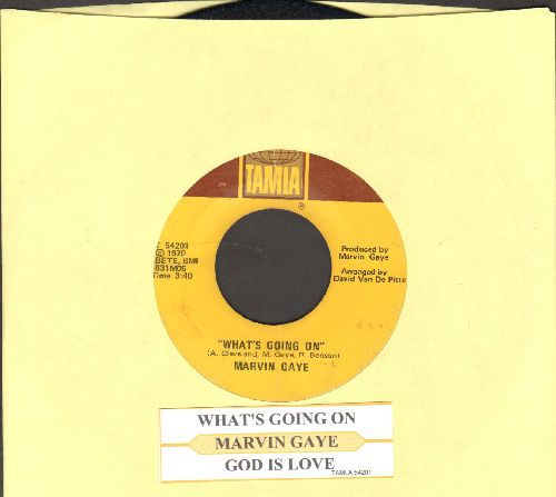 Gaye, Marvin - What's Going On/God Is Love (with juke box label) - VG7/ - 45 rpm Records