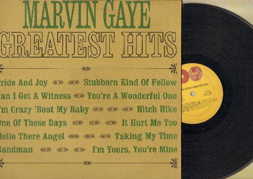 Gaye, Marvin - Greatest Hits: Hello There Angel, Hitch Hike, I'm Crazy 'Bout My Baby, Can I Get A Witness (vinyl MONO LP record) - VG7/EX8 - LP Records