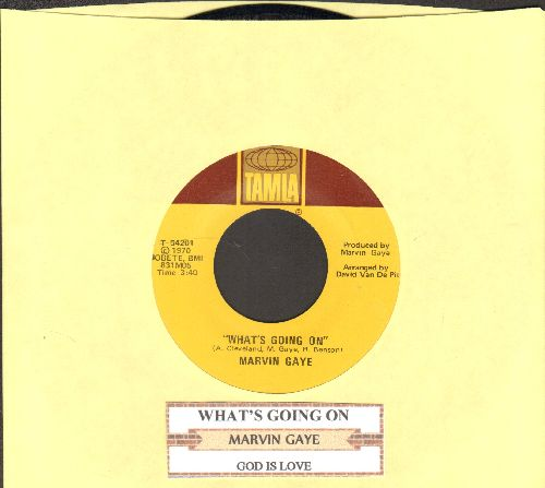 Gaye, Marvin - What's Going On/God Is Love (with juke box label) - NM9/ - 45 rpm Records