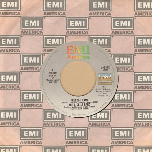 Geils, J. Band - Freeze Frame/Flame Thrower (with EMI company sleeve) - NM9/ - 45 rpm Records