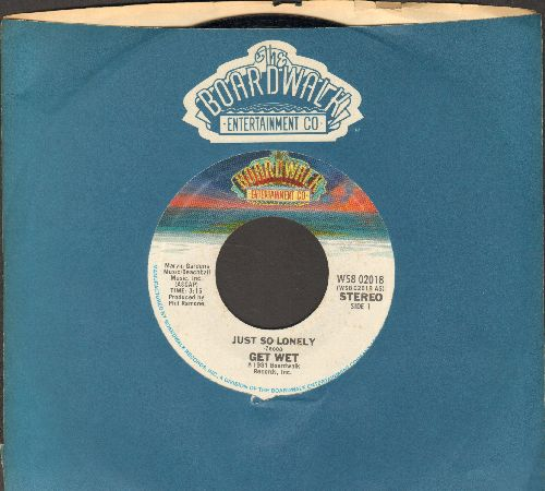 Get Wet - Just So Lonely/Turn On The Lights (with Broadway company sleeve) - NM9/ - 45 rpm Records