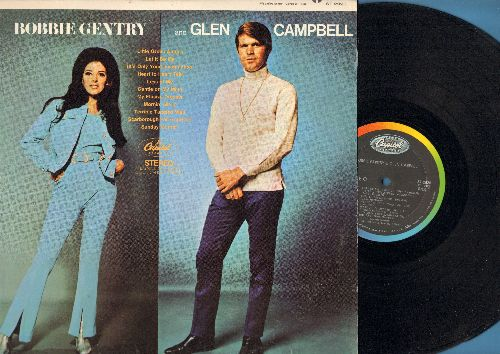Gentry, Bobbie & Gln Campbell - Bobbie Gentry & Glen Campbell: Little Green Apples, Let It Be Me, Gentle On My Mind (Vinyl STEREO LP record) - EX8/NM9 - LP Records