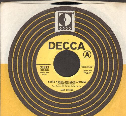 Greene, Jack - There's A Whole Lot About A Woman (A Man Don't Know)/Makin' Up His Mind (DJ advance pressing with Decca company sleeve) - NM9/ - 45 rpm Records