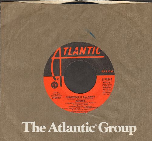 Genesis - Throwing It All Away/Do The Neurotic (with Atlantic company sleeve) - EX8/ - 45 rpm Records