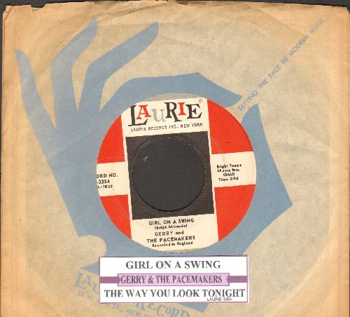 Gerry & The Pacemakers - Girl On A Swing/The Way You Look Tonight (with juke box label and Laurie company sleeve) - NM9/ - 45 rpm Records