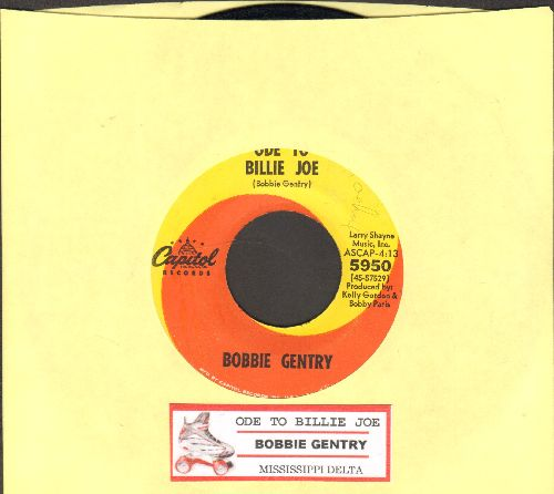 Gentry, Bobbie - Ode To Billy Joe/Mississippi Delta (with juke box label) - EX8/ - 45 rpm Records