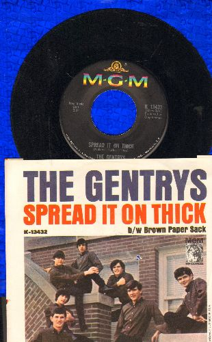 Gentrys - Spread It On Thick/Brown Paper Sack (with picture sleeve) - EX8/VG7 - 45 rpm Records