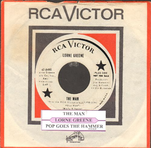 Greene, Lorne - The Man/Pop Goes The Hammer (DJ advance pressing with vintage RCA company sleeve and juke box label) - EX8/ - 45 rpm Records
