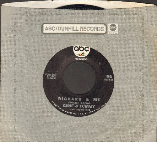 Gene & Tommy - Richard & Me/Can't Get To Stoppin' (with vintage ABC company sleeve) - NM9/ - 45 rpm Records