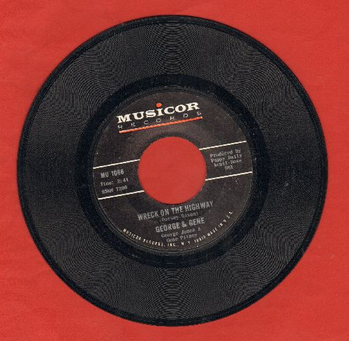Gene & George - Wreck On The Highway/I've Got Five Dollars And It's Saturday Night - EX8/ - 45 rpm Records