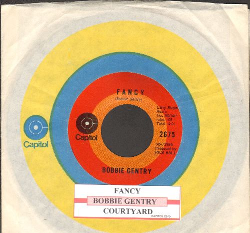 Gentry, Bobbie - Fancy/Courtyard (with juke box label and Capitol company sleeve) - NM9/ - 45 rpm Records