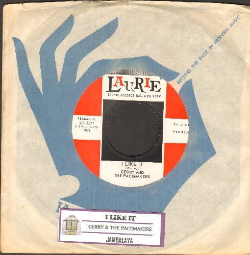 Gerry & The Pacemakers - I Like It/Jambalaya (MINT condition with Laurie company sleeve and juke box label) - M10/ - 45 rpm Records