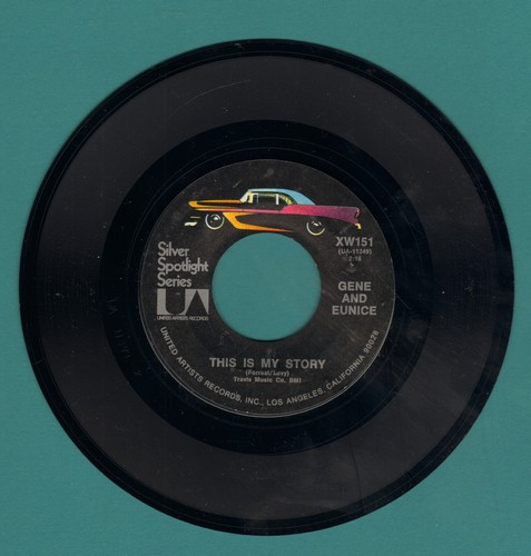 Gene & Eunice - This Is My Story/Ko Ko Mo (I Love You So) (double-hit re-issue) - M10/ - 45 rpm Records