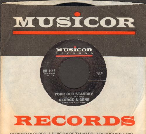 George (Jones) & Gene (Pitney) - Your Old Standby/Big Job (with Musicor company sleeve) - NM9/ - 45 rpm Records