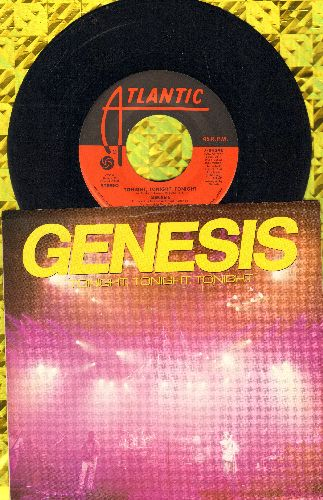 Genesis - Tonight, Tonight, Tonight/in The Glow Of The Night (with Pictue Sleeve)