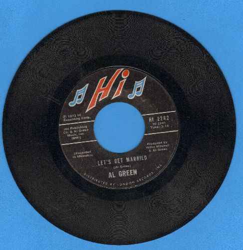 Green, Al - Let's Get Married/So Good To Be Here  - EX8/ - 45 rpm Records