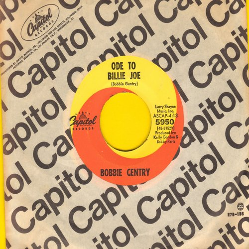 Gentry, Bobbie - Ode To Billy Joe/Mississippi Delta (MINT condition with Capitol company sleeve) - M10/ - 45 rpm Records