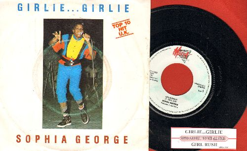 George, Sophia - Girlie Girlie/Girl Rush (DANISH Pressing with juke box label and picture sleeve) - NM9/EX8 - 45 rpm Records