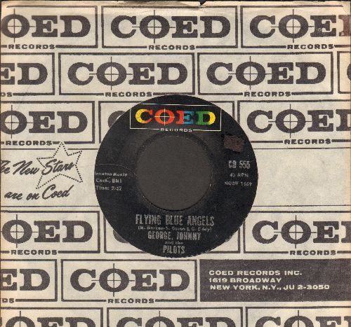 George, Johnny & The Pilots - Flying Blue Angels/A Fiddle And A Bow (NICE condition with RARE vintage Coed company sleeve) - NM9/ - 45 rpm Records