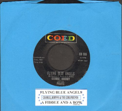 George, Johnny & The Pilots - Flying Blue Angels/A Fiddle And A Bow (with juke box label) - NM9/ - 45 rpm Records