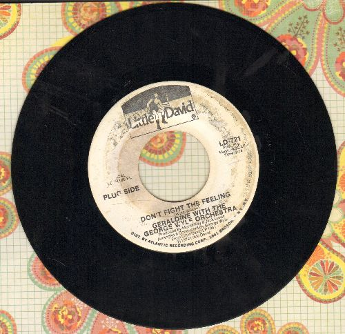 Geraldine (Jones) - Don't Fight The Feeling/Killer (DJ advance pressing, near mint vinyl, label blemish) - EX8/ - 45 rpm Records