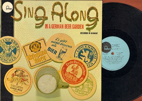 Various Artists - Sing Along In A German Beer Garden - Recorded In German (Vinyl LP record, US Pressing, sung in German) - NM9/NM9 - LP Records
