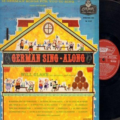Glahe, Will & His Orchestra - German Sing-Along: Ein Freund ein guter Freund, O Mein Papa, Liechtensteiner Polka, Lili Marleen, Trink trink Bruderlein trink (Vinyl LP record, British Pressing) - NM9/NM9 - LP Records