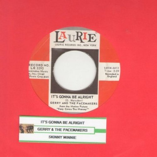 Gerry & The Pacemakers - It's Gonna Be Alright/Skinny Minnie (with juke box label) (bb) - NM9/ - 45 rpm Records