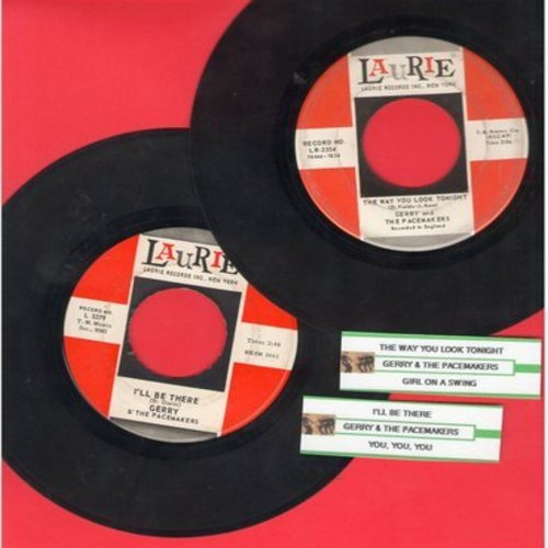 Gerry & The Pacemakers - 2 for 1 Special: I'll Be There/The Way You Look Tonight (2 vintage first issue 45rpm records with juke box labels for the price of 1!) - VG7/ - 45 rpm Records