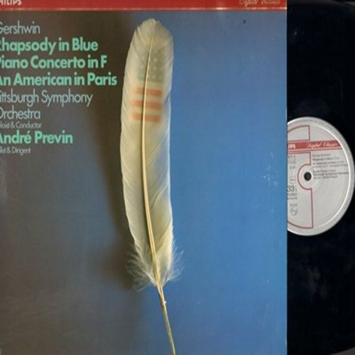 Previn, Andre - Gershwin's Rhapsody In Blue/An American In Paris (Vinyl STEREO LP record) - NM9/EX8 - LP Records