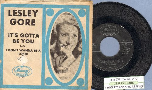 Gore, Lesley - I Don't Wanna Be A Loser/It's Gotta Be You (with picture sleeve) - EX8/VG6 - 45 rpm Records