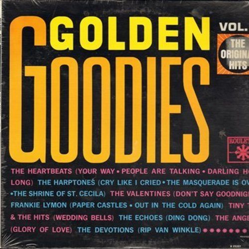Heartbeats, Angels, Harptones, Echoes, Frankie Lymon, others - Golden Goodies Vol. 1: Glory Of Love, Ding Dong, Rip Van Winkle, The Shrine Of St. Cecilia (Vinyl MONO LP record, SEALED, never opened!) - SEALED/SEALED - LP Records