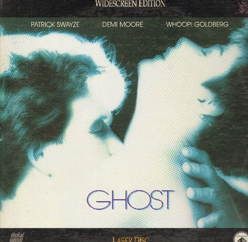 Ghost - Ghost - The 1991 Oscar Winner starring Patrick Swayzee, Demi Moore and Whoopi Goldberg on 2 LASERDISCS, Widescreen Edition in gate-fold cover (These are LASERDISCS, not any other kind of media!) - NM9/VG7 - LaserDiscs