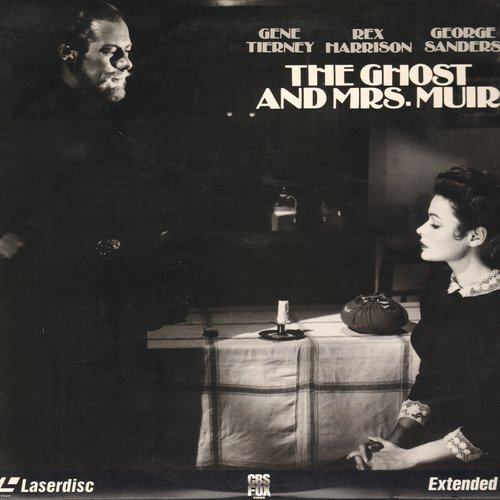 Ghost And Mrs. Muir, The - The Ghost And Mrs. Muir - LASERDISC version of the Enchanting 1947 Classic starring Gene Tierney and Rex Harrison (This is a LASERDISC, not any other kind of media!) - NM9/NM9 - LaserDiscs
