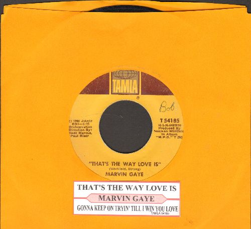 Gaye, Marvin - That's The Way Love Is/Gonna Keep On Tryin' (with juke box label) - EX8/ - 45 rpm Records