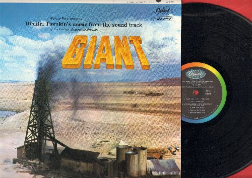 Tiomkin, Dimitri - Giant - Original Motion Picture Sound Track, includes vocal version of Theme Song (Vinyl MONO LP record, 1956 first pressing) - NM9/NM9 - LP Records