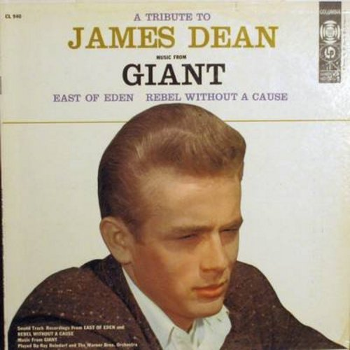 Dean, James - A Tribute To James Dean - Music from film Giant, East Of Eden and Rebel Without A Cause played by Ray Heindorf and the Warner Brothers Orchestra (Vinyl MONO LP record, NICE condition!) - NM9/NM9 - LP Records
