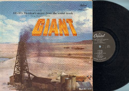 Tiomkin, Dimitri - Giant - Original Motion Picture Sound Track, includes vocal version of Theme Song (Vinyl MONO LP record, 1956 first pressing) - EX8/VG7 - LP Records