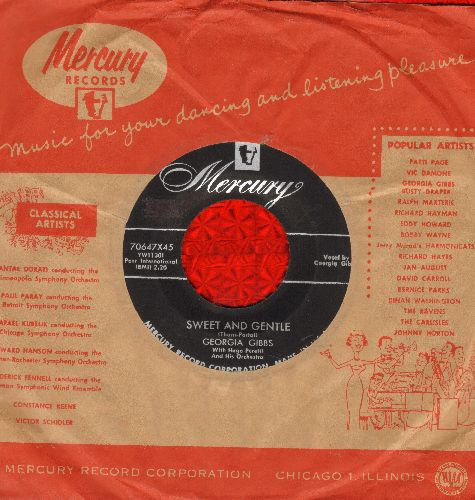 Gibbs, Georia - Sweet And Gentle/Blueberries (with vintage Mercury company sleeve) - NM9/ - 45 rpm Records