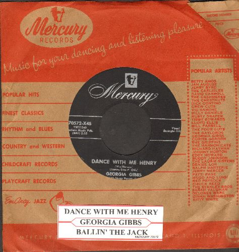 Gibbs, Georgia - Dance With Me Henry/Ballin' The Jack (with juke box label and vintage Mercury company sleeve) - NM9/ - 45 rpm Records