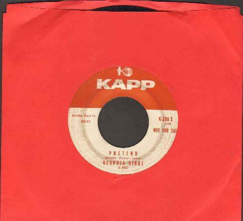 Gibbs, Georgia - Pretend/Hamburgers, Frankfurters And Potato Chips (DJ advance pressing) - VG7/ - 45 rpm Records
