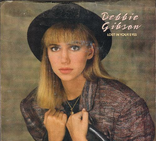 Gibson, Debbie - Lost In Your Eyes/Silence Speaks (A Thousand Words)(with picture sleeve) - NM9/VG7 - 45 rpm Records