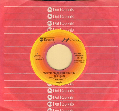 Gibson, Don - Fan The Flame, Feed The Fire/Bringin' In The Georgia Mail (with ABC company sleeve) - M10/ - 45 rpm Records