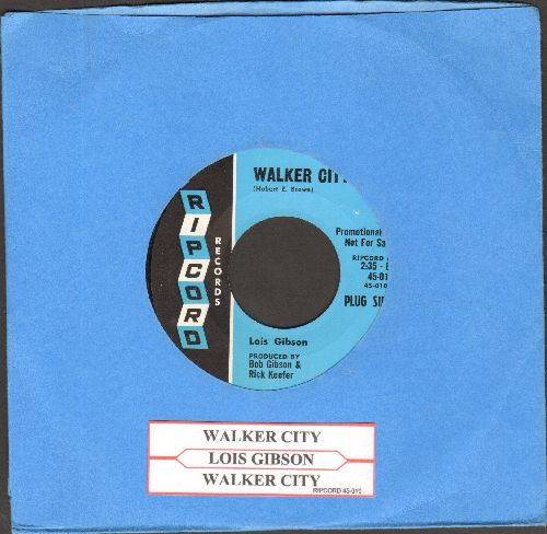 Gibson, Lois - Walker City (double-A-sided DJ advance pressing with juke box label) - NM9/ - 45 rpm Records